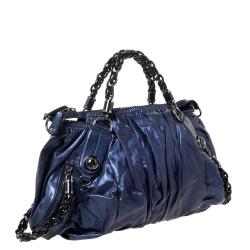 Gucci Metallic Midnight Blue Soft Leather Galaxy Satchel