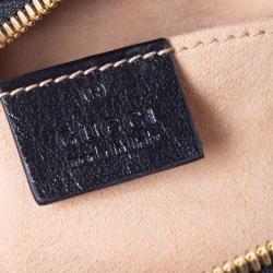 Gucci Beige/Black GG Matelasse Canvas and Leather GG Marmont Shoulder Bag