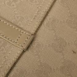 Gucci Beige Canvas 'Jackie-O' Flap Small Shoulder Handbag