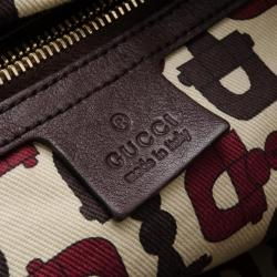 Gucci Chocolate Guccissima Leather 'Hysteria' Large Tote