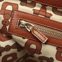 Gucci Brown Leather Tote Bag