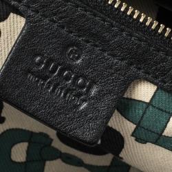 Gucci Black Guccissima Leather Medium Hysteria Hobo