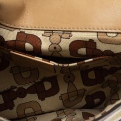 Gucci Beige Guccissima Leather Britt Tassel Shoulder Bag