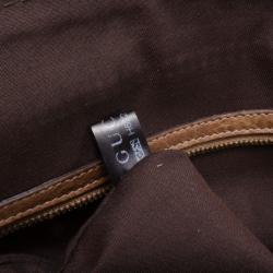 Gucci Brown Monogram Horsebit Satchel