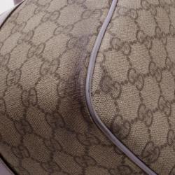 Gucci Monogram Lilac Trim Boston Bag
