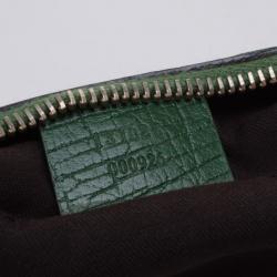Gucci Monogram Canvas Horsebit Saddle Bag