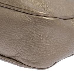 Gucci Metallic Beige Leather Soho Disco Crossbody Bag