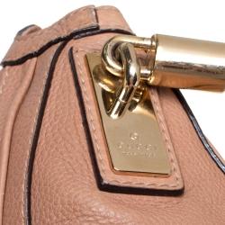 Gucci Beige Leather Medium Bella Hobo