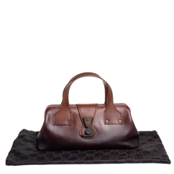 Gucci Ombre Brown Leather Bowler Bag