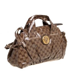 Gucci Beige/Brown GG Crystal Coated Canvas Small Hysteria Tote