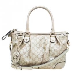 c3c3cfdfc4c Gucci Champagne Guccissima Leather Medium Sukey Top Handle Tote Bag