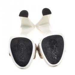 Gucci Beige GG Canvas Horsebit Mules Size 40