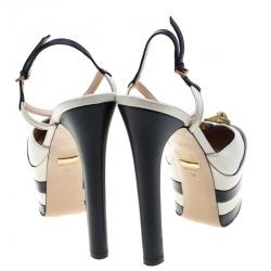 Gucci Tricolor Leather Studded Platform Pumps Size 38