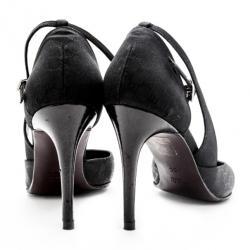 Gucci Black Microguccissima D'orsay Pumps Size 38