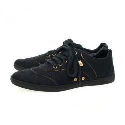 Gucci Black Guccissima Canvas Aerobic Sneakers Size 37.5
