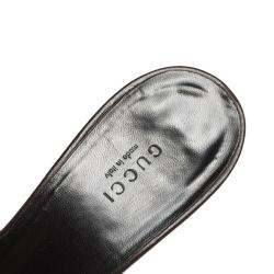 Gucci Beige/Ebony GG Canvas Horsebit Mules Size 40