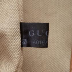 Gucci Brown Pebbled Leather Bamboo Backpack