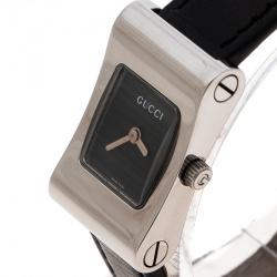 97281d68d87 Gucci Black Stainless Steel 2300L Women s Wristwatch 17 mm