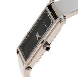 4f6755f5939 Gucci Black Stainless Steel 1500 L Women s Wristwatch 12 mm