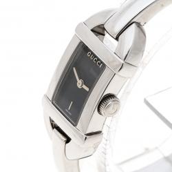 8d8d0b5d249 Gucci Black Stainless Steel 6800L Women s Wristwatch 16 mm