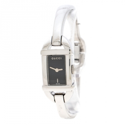 5467008c4bc Gucci Black Stainless Steel 6800L Women s Wristwatch 16 mm