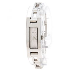 ce54db1ab8e09b Gucci Silver Stainless Steel 3900L Women s Wristwatch 12 mm