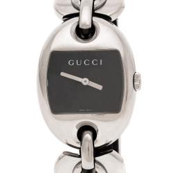 Gucci Black Stainless Steel Marina Chain 121.3 Women's Wristwatch 32MM