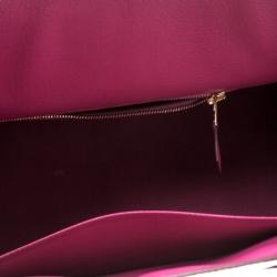 Hermes Fuchsia Porosus Crocodile Gold Hardware Birkin 35 Bag