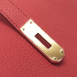 Hermes Rose Jaipur Clemence Birkin Bag 35 CM