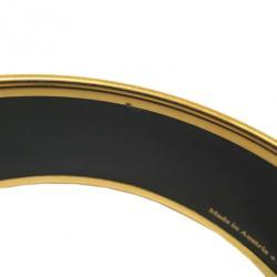 Hermes Wide Printed Enamel Gold-Plated Fox Design Bracelet 19CM