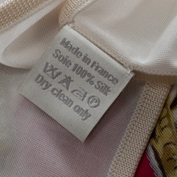 Hermes Off White and Pink Brides De Gala Printed Silk Jersey Square Scarf