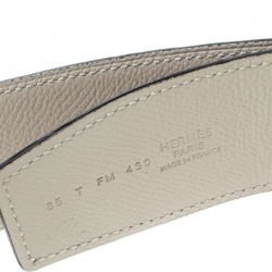Hermes Bordeaux/Off White Epsom Leather Reversible Constance Belt 85cm