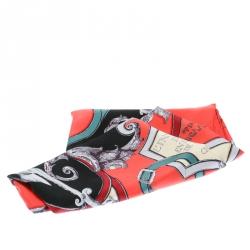 Hermes Multicolor L'Instructions Du Roy Printed Silk Square Scarf