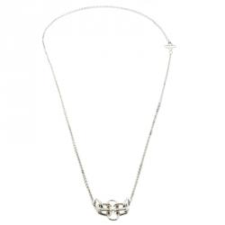 Hermes Rose De Mer Silver Long Station Necklace
