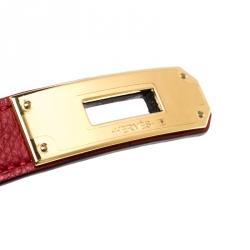 Hermes Red Epsom Leather Kelly Belt