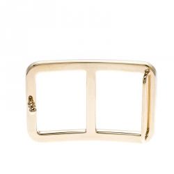 Hermes Domino Gold Tone Peg Belt Buckle