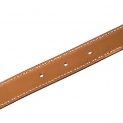 Hermes Brown/Tan Leather Rivale Reversible Belt 90cm