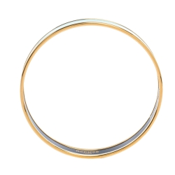 Hermes Turquoise Printed Enamel Gold Plated Narrow Bangle Bracelet