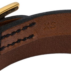 Hermes Behapi Black and Brown Double Tour Reversible Bracelet XS