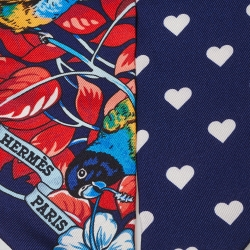 Hermes Marine Blue Jungle Love Love Silk Twilly