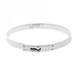 Hermes Kelly Diamond 18k White Gold SH Bracelet