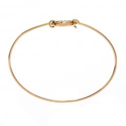 Hermes Chain d'Ancre Ronde 18k Yellow Gold Hook Bracelet SH