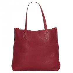 38084565bc0d Hermes Rubis Bougainvillier Taurillon Clemence Leather Double Sens Bag