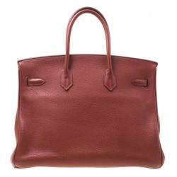 Hermes Sienne Leather Palladium Hardware Birkin 35 Bag