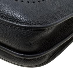 Hermes Black Togo Leather Evelyne III PM Bag