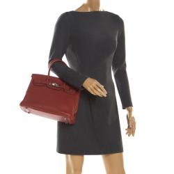 Hermes Rouge Grenat Togo Leather Palladium Hardware Birkin 30 Bag