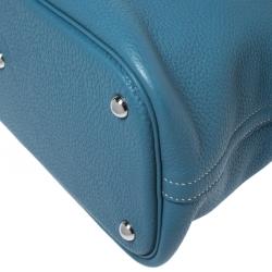 Hermes Blue Jean Togo Leather Bolide 35 Bag