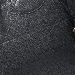Hermes Black Togo Leather Gold Hardware Bolide 35 Bag