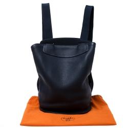 Hermes Blue Indigo Togo Leather Sherpa Backpack