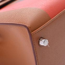 Hermes Gold Epsom Leather Palladium Hardwarre Lettres au Carre Kelly Sellier 28 Bag